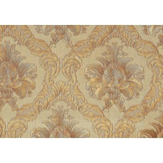 Metallic Vintage Damask Wallpaper