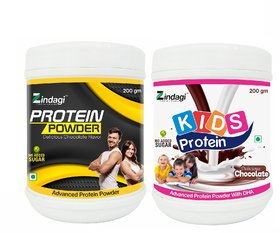 Zindagi Adult Protein Powder And Kids Protein Powder - Whey Protein - Family Nutrition - Health Supplement