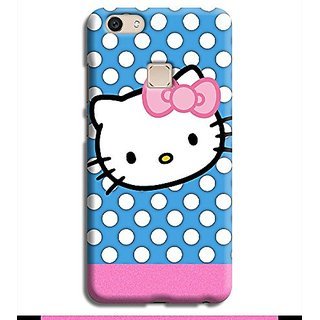 Very Soft  Cute Hello Kitty Beautiful Full Flexible  Flexible Back Cover For VIVO V7 - PINK ( Best Quality )