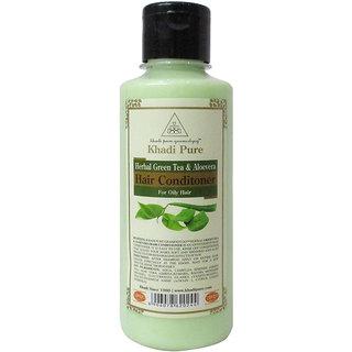 Khadi Pure Herbal Green Tea  Aloevera Hair Conditioner - 210ml