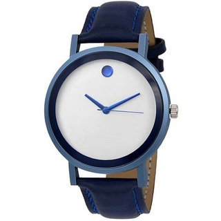 kayra fashion  New Arrival Blue Leather Strap Attractive Design Watch For Boys Watch - For Men