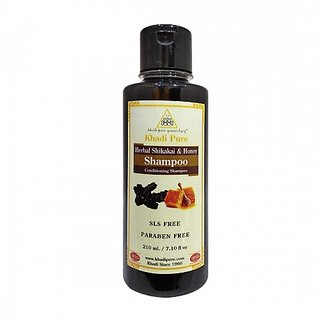 Khadi Pure Herbal Shikakai  Honey Hair Conditioner SLS-Paraben Free - 210ml