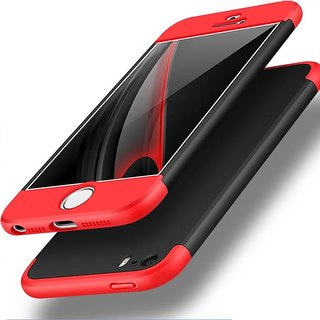 3 in 1 360 Full Body Slim Fit Protection Hybrid Hard Back Cover for iPhone 5 / 5S - Red