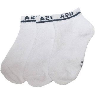 Zeeko white loafer socks (pack-2)