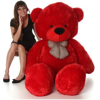 stuffed toy sweet and soft 5 feet teddy bear red