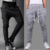 Men's Grey and Black Poly Cotton Trackpants (Pack of 2)