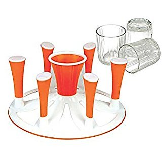 Glass and Spoon Organiser For 6 Glasses and Cutlery Glass Stand Made of Virgin Plastic
