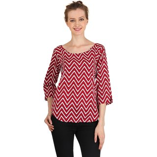Jollify Women's Red casual Top
