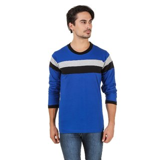 Aurelio Marco Royal Blue Round Neck T Shirt