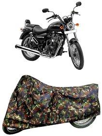 De AutoCare Premium Quality Army/ Junglee Matty Two Wheeler Bike Body Cover for Roy@l En-Field Thunderbird 500