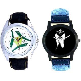 Professional Men And Luxury Green Tri Fan Men's Analog Combo Casual Wrist Watch By Taj Avenue