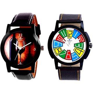 Wine Glass Luxury Style And Exclusive Multi Colour Men's Combo Wrist Watch By Taj Avenue