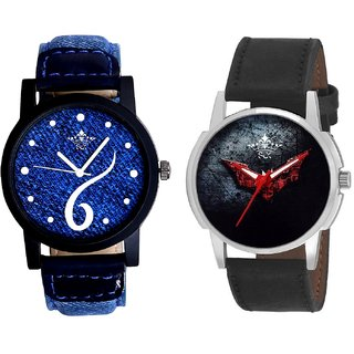 Sports Sixth Art Design And Black - Red Fancy Dial Analogue Men's Combo Watch By SCK