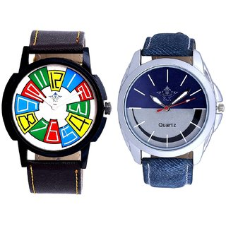 Exclusive Multi Colour And Stylish Smile Dial Analogue Men's Combo Wrist Watch By Taj Avenue