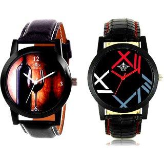 Wine Glass Luxury Style And Fancy Roman Digit Men's Combo Analog Wrist Watch By Taj Avenue