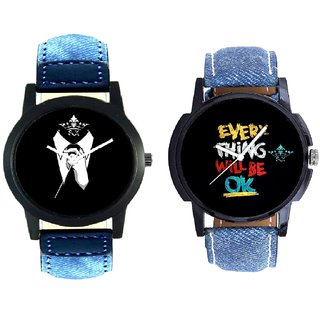 Classical Men And Black Dial Multi Print Analogue SCK Men's Combo Watch