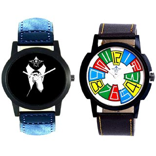 Classical Men And Officially Multi Colour SCK Combo Gallery Wrist Watch