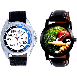Cricket Super Design And Exclusive Blue-Black Round Quartz  Combo Analogue Wrist Watch By Ram Enterprise