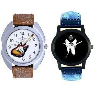 Classical Men And Colouring Guitar SCK Combo Analogue Watch