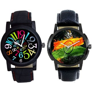 Indian Flage And Spanish Special Colour Digit Quartz Analogue Combo Watch By Taj Avenue