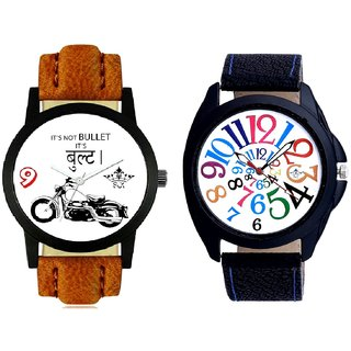 Royal Men Bullet And White Dial Multi Colour Digits SCK Combo Gallery Wrist Watch