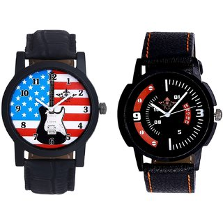 Awesome USA Design And Special 3D Look Quartz SCK Combo Analogue Wrist Watch