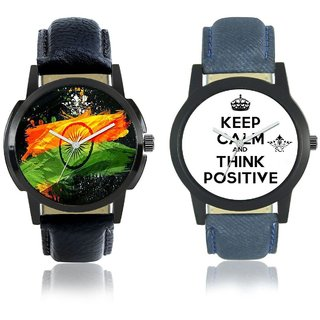 Indian Flage And Power Of Positive Thinking Quartz Analogue Combo Watch By SCK