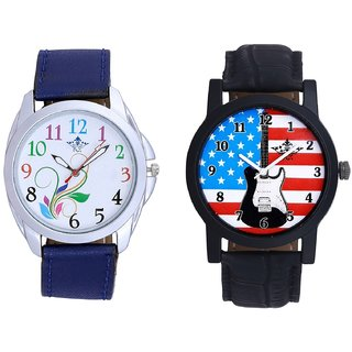 Exclusive USA Design And Colouring Flowers Men's Combo Casual Watch By SCK