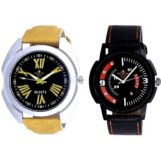 Exclusive Roman Digits And Special 3D Look Quartz SCK Combo Analogue Wrist Watch