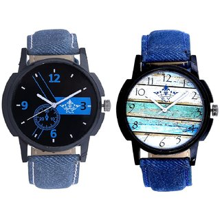 Luxury Blue Round Dial And Spanish Colour Art Analogue SCK Men's Combo Watch
