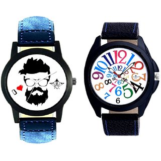 I Love Rock Handsome And White Dial Multi Colour Digits SCK Combo Gallery Wrist Watch