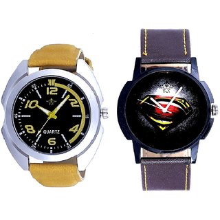 Yellow Sports Strap And Black Dial Super Men Art SCK Men's Combo Wrist Watch