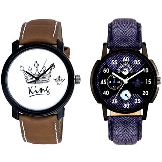 Latest Blue And King Dial Men's Combo Analog Wrist Watch By SCK