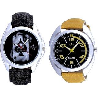 Stylish Sports Yellow With Hukum Ka Akka SCK Combo Gallery Wrist Watch