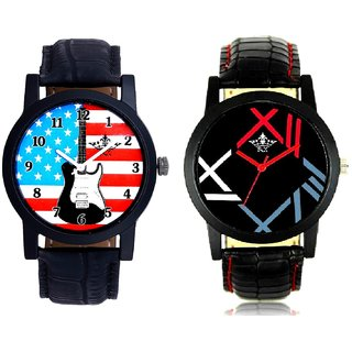 Exclusive USA Design And Fancy Roman Digit Men's Combo Analog Wrist Watch By SCK