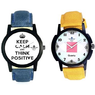 Men Power Of Positive Thinking And Luxury Almight Design SCK Combo Gallery Wrist Watch