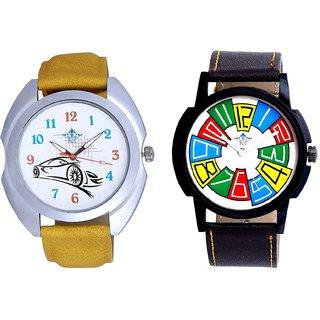 Exclusive Multi Colour And Rolls-Royce Car Men's Combo Wrist Watch By Taj Avenue
