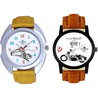 Royal Men Bullet And Jaguar Car SCK Combo Gallery Wrist Watch