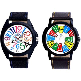 White Dial Multi Colour Digits And Officially Multi Colour SCK Combo Gallery Wrist Watch