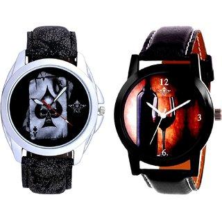 Glassy Classic Style With Hukum Ka Akka SCK Combo Gallery Wrist Watch