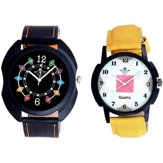 Special 3D Designer Chain And Luxury Almight Design SCK Combo Gallery Wrist Watch