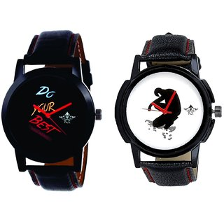 Do Your Best Multi Colour And Fancy White Dial Men's Combo Casual Watch By SCK