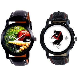 Cricket Super Design And Fancy White Dial Men's Combo Casual Watch By Taj Avenue