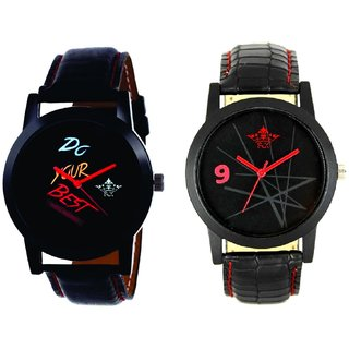Do Your Best Multi Colour And Star Design Casual Analog Combo Men's Watch By SCK
