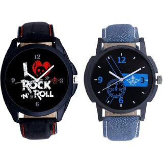 Awesome Blue Dial And Fancy I Love Rock N Roll SCK Men's Combo Wrist Watch