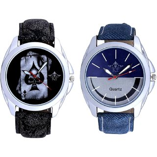 Death Race Akka And Smiley Look Dial Analog Men's Combo Wrist Watch