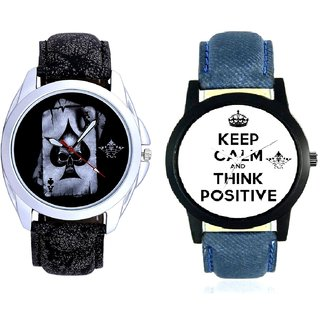 Men Power Of Positive Thinking And Akka Printed Dial Analog SCK Combo Watch -For Men