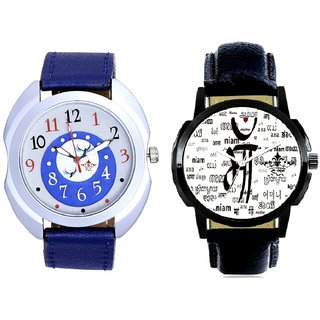 Maa All Language And Almight Blue Round Dial Casual Analog Combo Men's Watch By Taj Avenue