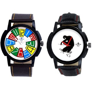 Exclusive Multi Colour And Fancy White Dial Men's Combo Casual Watch By Taj Avenue