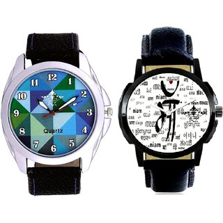 Maa All Language And Royal Sky Colour Art Men's Combo Casual Watch By Taj Avenue